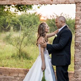 Sunset Touch by Daniel Craig Johnson - Wedding Bride & Groom ( wedding photography, wedding, bride and groom, africa, bride,  )
