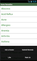 Screenshot of Home Remedies (Lite)