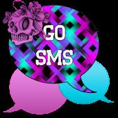 GO SMS - Skull Swirl 2
