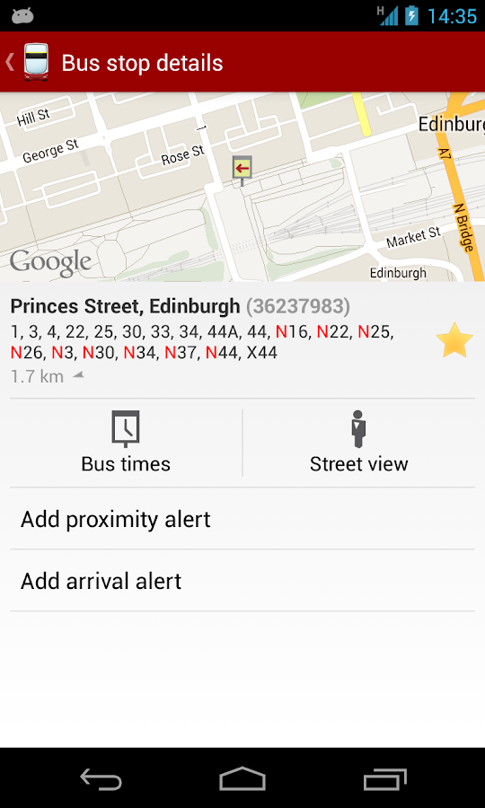 My Bus Edinburgh- screenshot