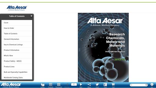 Alfa Aesar Catalogs
