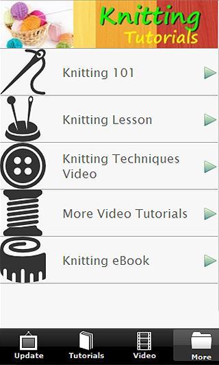 Knitting Tutorials FREE - screenshot