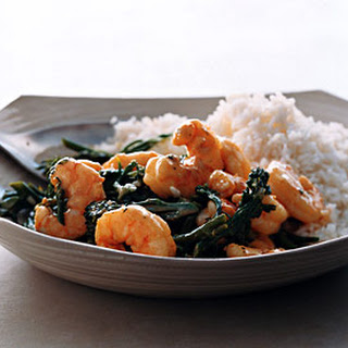 Spicy Wok Shrimp with Coconut Rice.