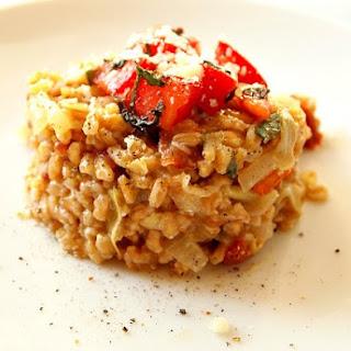 Artichoke and Sun Dried Tomato Farroto