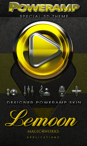 Poweramp skin theme Lemoon HD