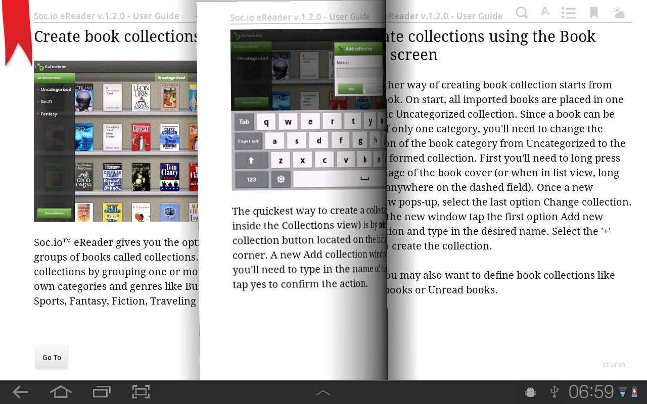 Socio eReader - screenshot