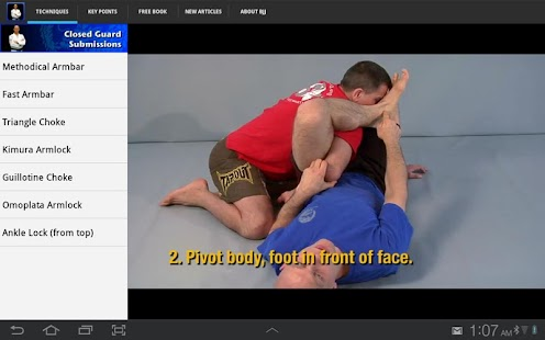 Submissions for BJJ & MMA - screenshot thumbnail