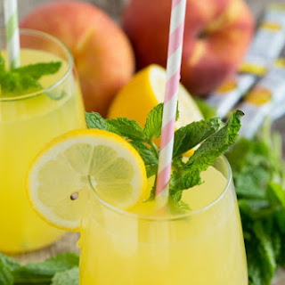 Sparkling Mint Peach Lemonade