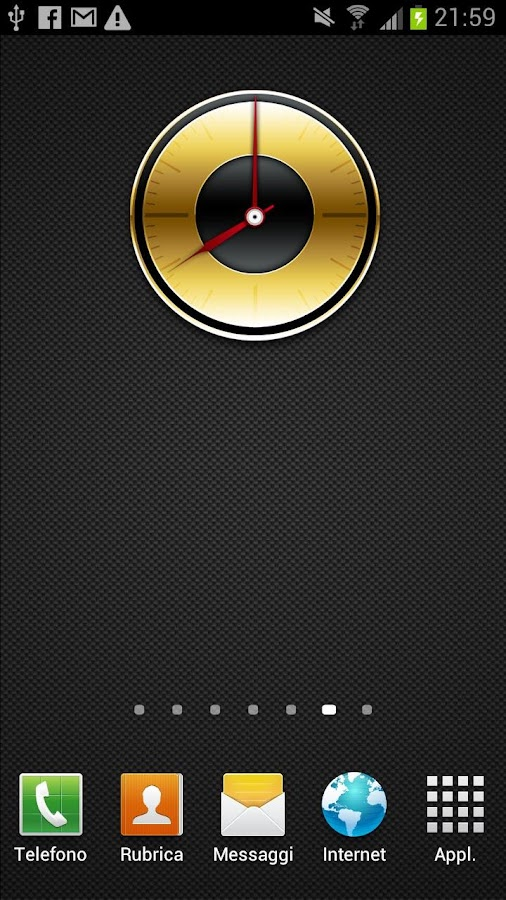 Gold Analog Clock - screenshot