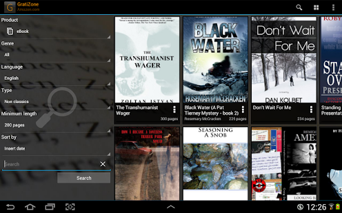 GratiZone: eBooks for Kindle- screenshot thumbnail