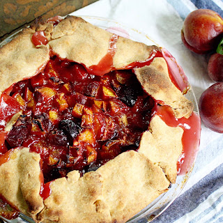 Peach Crostata with Cornmeal Crust