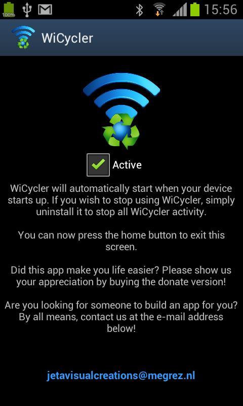 WiCycler- screenshot