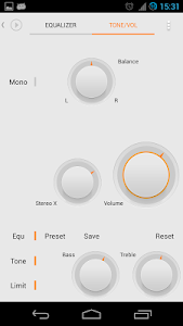 Skin for Poweramp MIUI Light screenshot 1