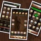 Wood Skull GO launcher EX icon