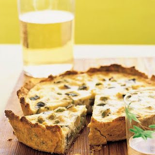 Zucchini and Edamame Quiche