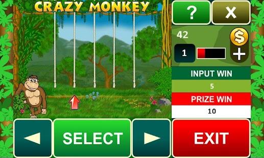 Crazy Monkey slot machine - screenshot thumbnail