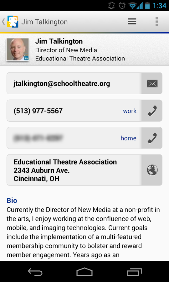 Theatre Education Community - screenshot
