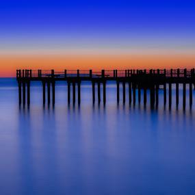 Pier #2 by Miren Etcheverry - Landscapes Waterscapes ( water, martha's vineyard, harbor, vineyard, waterscape, sea, pier, ocean, seascape, fishing, creativity, lighting, art, artistic, purple, mood factory, lights, color, fun )