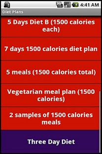 1200 and 1500 Calories Diets- screenshot thumbnail
