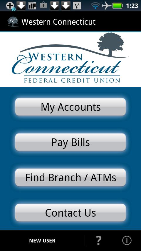 Western CT FCU Mobile - screenshot