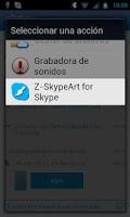 Screenshot of Z-Art for Skype