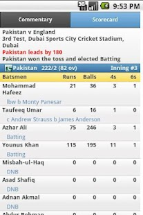 iCricket Cricket Scores & Info - screenshot thumbnail