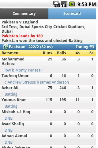 iCricket Cricket Scores & Info - screenshot