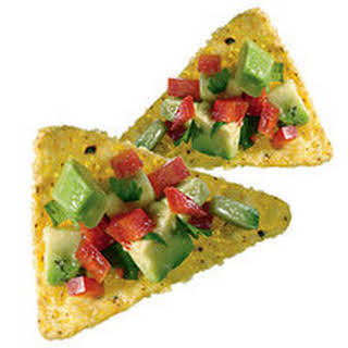 Salsa-Topped Tortilla Chips.