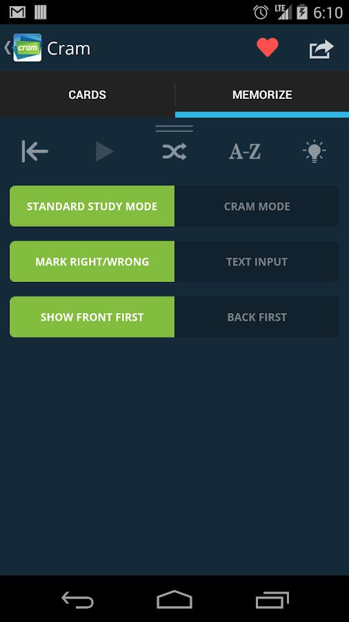 Cram.com Flashcards- screenshot