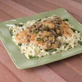 Chicken Marsala With Pasta.