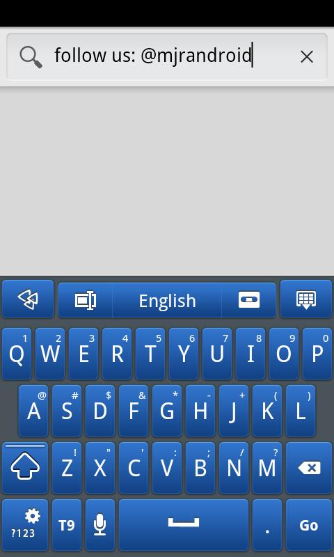 Blue Galaxy GO Keyboard Theme- screenshot