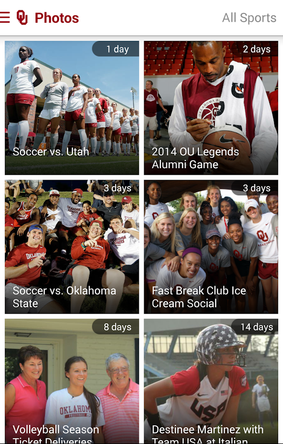 SoonerSports2Go- screenshot