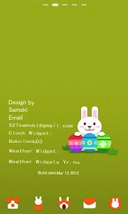 Easter Rabbit GO LauncherEX Th - screenshot thumbnail