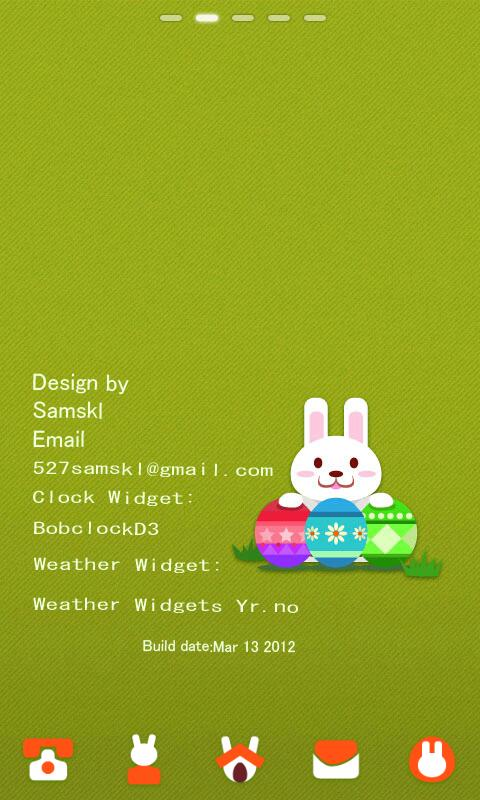Easter Rabbit GO LauncherEX Th - screenshot