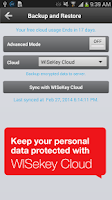Screenshot of WISeID Personal Cloud
