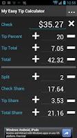 Screenshot of My Easy Tip Calculator Free