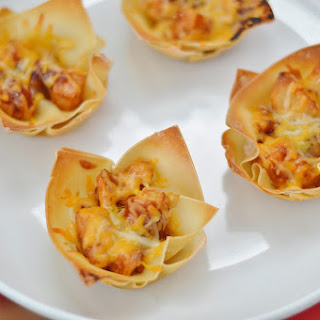 Barbecue Chicken Wonton Cups