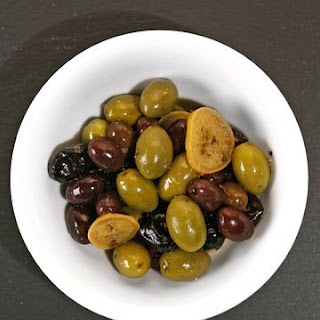 Mixed Provencal Olives with Preserved Lemon and Oregano