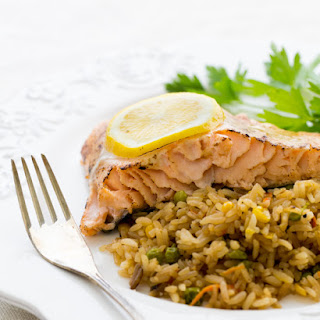 Baked Salmon with a Lemon Mayo Glaze