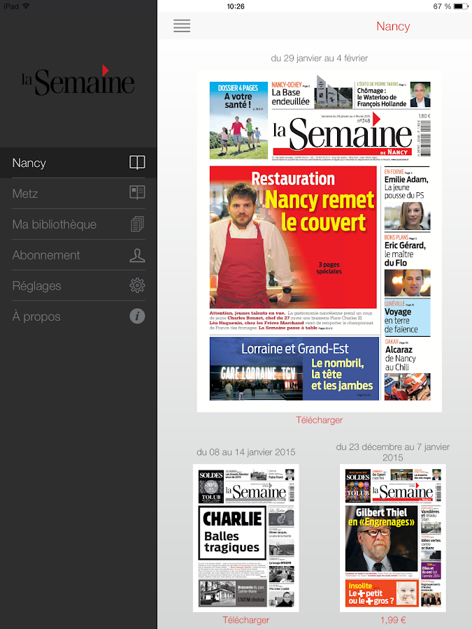 La Semaine- screenshot