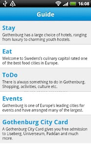 Cityguide Gothenburg - screenshot thumbnail