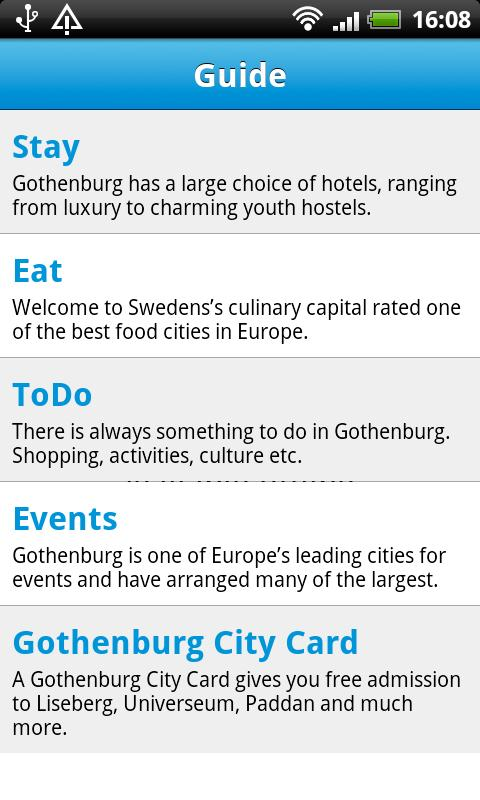 Cityguide Gothenburg - screenshot