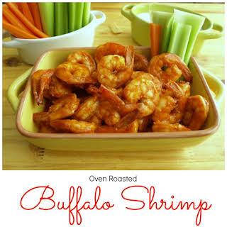 Oven Roasted Buffalo Shrimp.
