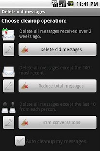 Delete old messages - screenshot thumbnail
