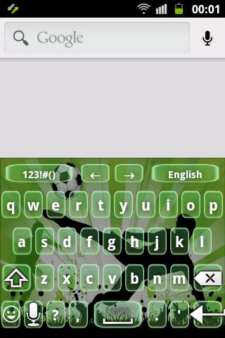 足球運動員鍵盤