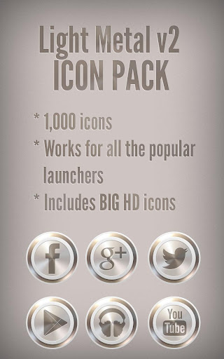 Light Metal v2 - Icon Pack