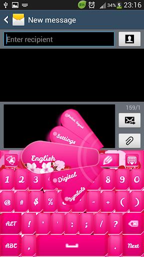 GO输入粉红色的花