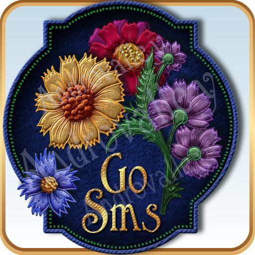 GOSMS/POPUP Bohemian Floral 個人化 LOGO-玩APPs