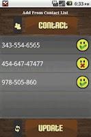 Screenshot of Missed Call Alarm