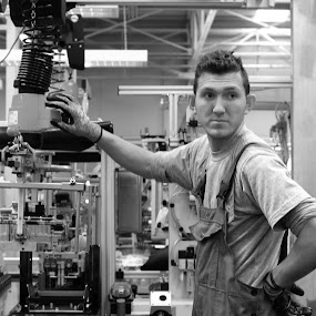 The worker (2) by Florin Cepraga - People Professional People ( work, plant, automotive, worker, candid, portrait,  )